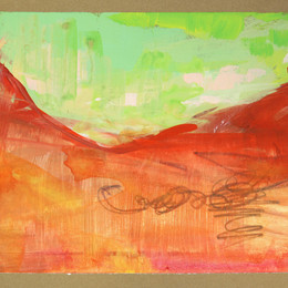 postcape series:  Red rock green