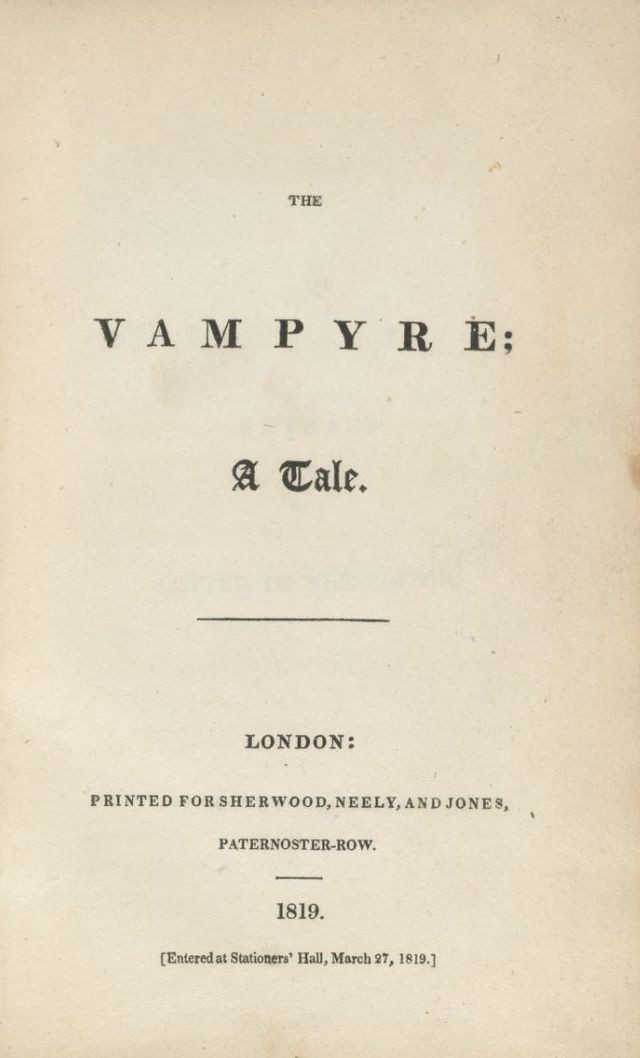 John William Polidori The Vampyre