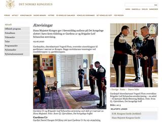 Audiens hos HM Kongen ifm tildeling av Gardens ur og Brigader Leif Schanches æresbevisning