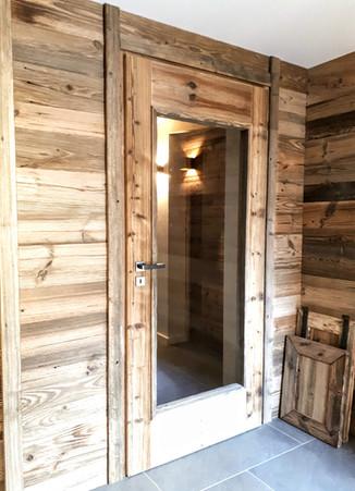 Porte d'intérieure vieux bois.