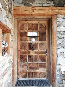 Porte d'entrée vieux bois.