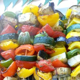 Gemüsespiesse mit Käse