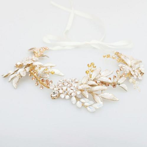 Guía headband dorada y rose gold iridisente