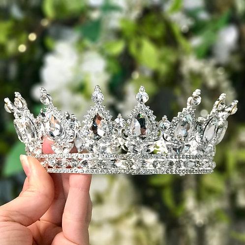 Tiara princesa plata TXV049