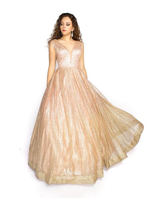 Vestido ampon glitter