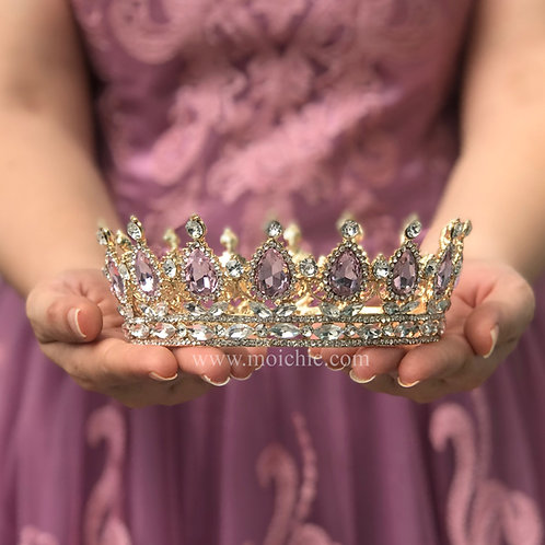 Corona princesa dorada TXV050