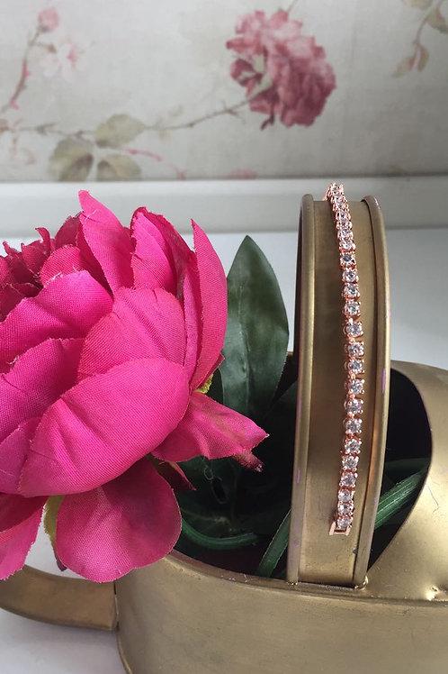 Pulsera de círculos pequeños rose gold