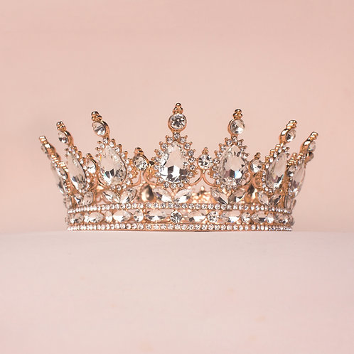 Corona princesa rose gold plata TXV080
