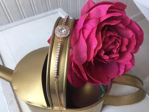 Pulsera dije cuadro rose gold