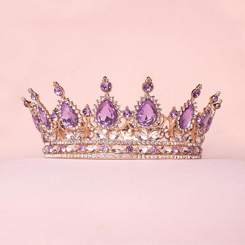 Corona princesa dorada lila TXV078