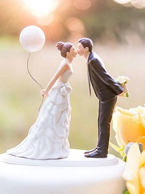 Monito de pastel Pareja de Novios Kiss 9476WS