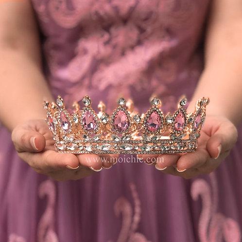 Corona princesa rose gold TXV086