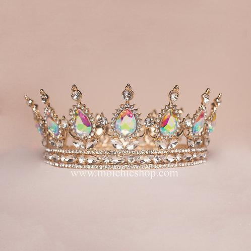 Corona princesa dorada tornasol TXV046
