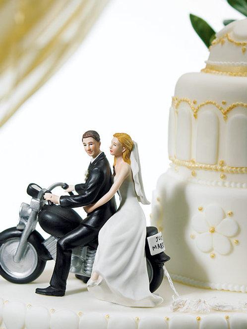 Monito de Pastel Pareja Motociclista 8660WS