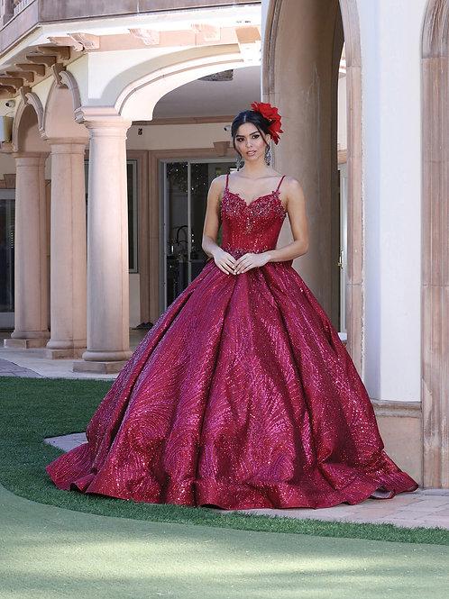 Vestido XV vino glitter