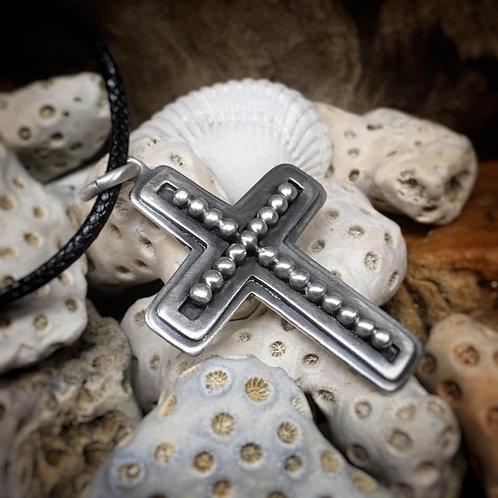 Sterling Silver Bead Cross