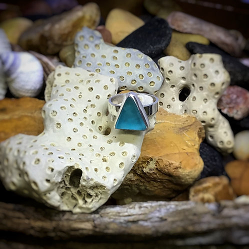 Seaglass Sterling Ring