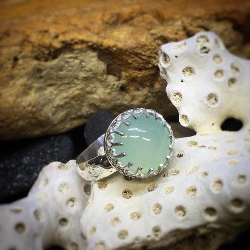 Pastel Green Chalcedony Ring