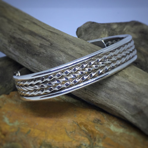 Five Wire Sterling Cuff
