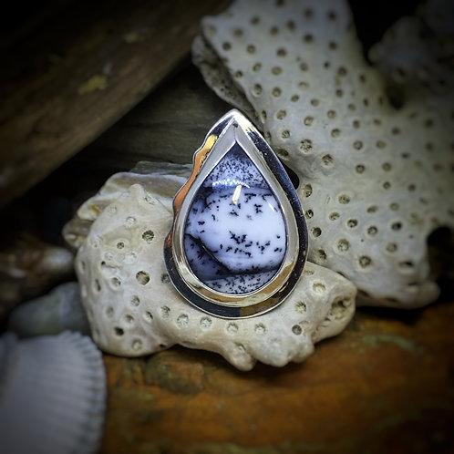 Dendritic Opal Ring