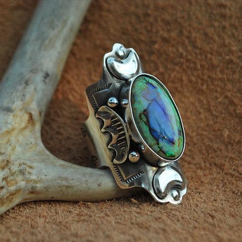 Divine Opal Moon Ring