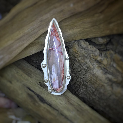 Long Dagger Sterling Silver Handcrafted Ring