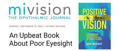 mivision, The Ophtalmic Journal. minews. September 18, 2020. Author: mivision. An Upbeat Book About Poor Eyesight. Image of the book cover.