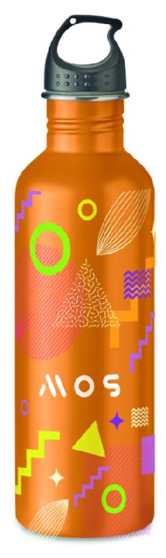 Fles in eigen kleur met rondom opdruk