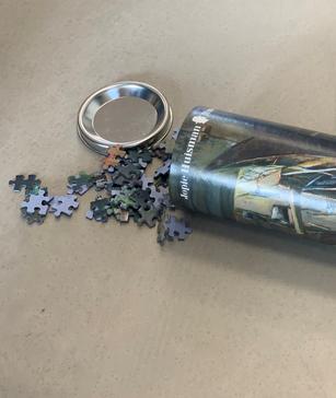 Jopie Huisman puzzel in koker