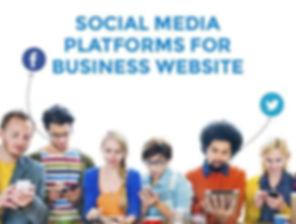 Social Medai Platforms For Busimess Website