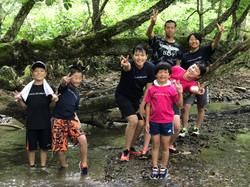 夏休み川遊びで