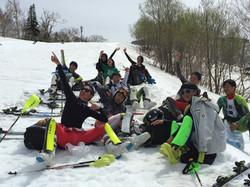GWキャンプは昼ごはんも休憩も雪上です