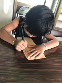 お手紙書く勉強中