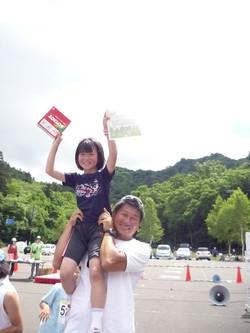 定山渓マラソン大会にて