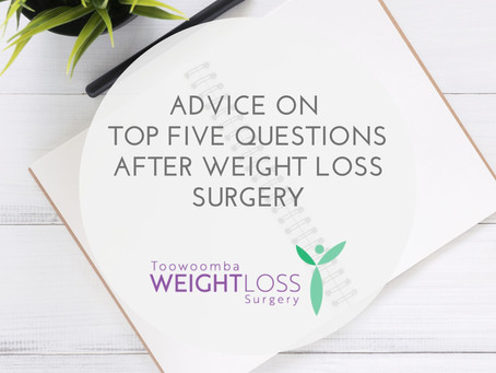 Advice on these five common questions after weight loss surgery