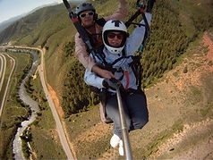 Helen Bird ziplining in Wolcott, Colorado