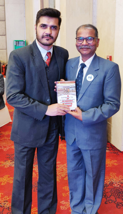 Self with Maj Mohammed Ali Shah,TED speaker,Defence Expert