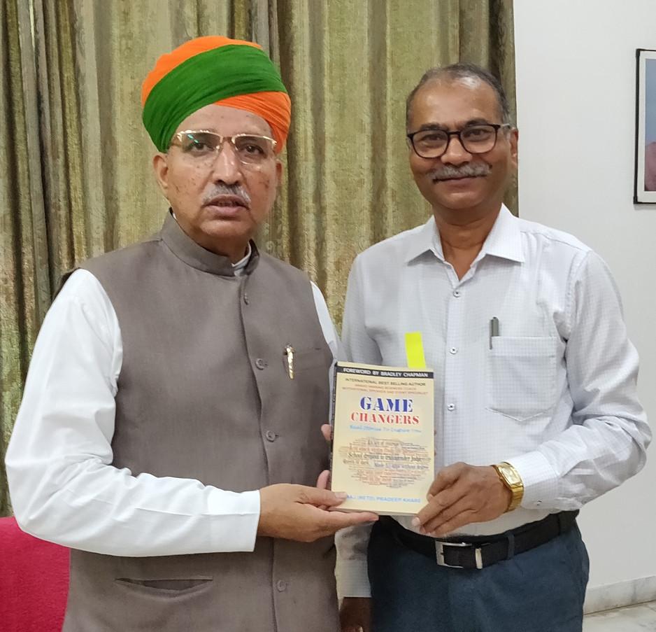 Self with Shri Arjun Ram Meghwal ,Union Ministeral