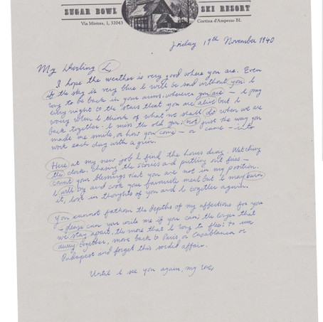 Coded hand-written letter with letterhead