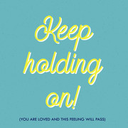 Keep Holding On typography