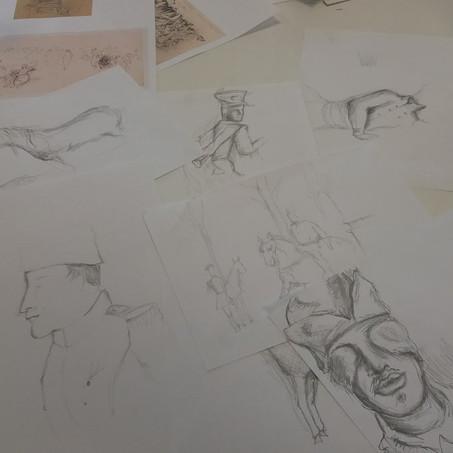 Vanity Fair - Soldier's drawings