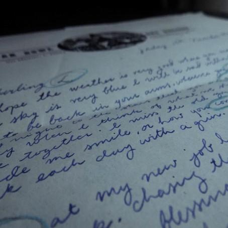 Handwritten Letter detail