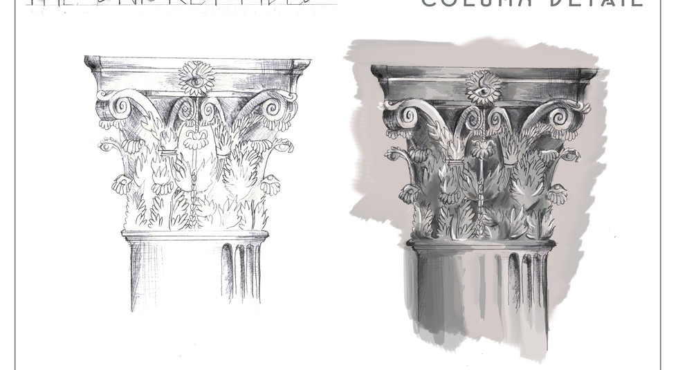 The Snicket Files - Corinthian Capital Detail
