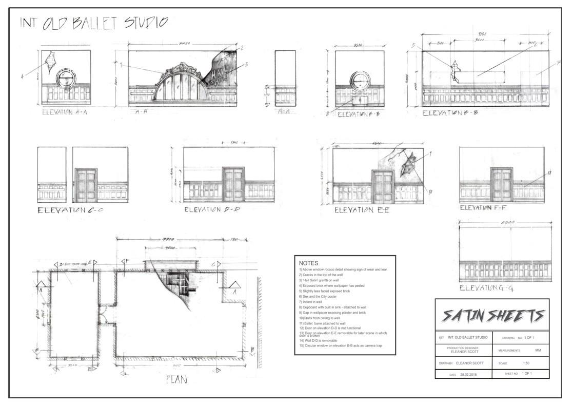 Satin Sheets - Tech Drawings