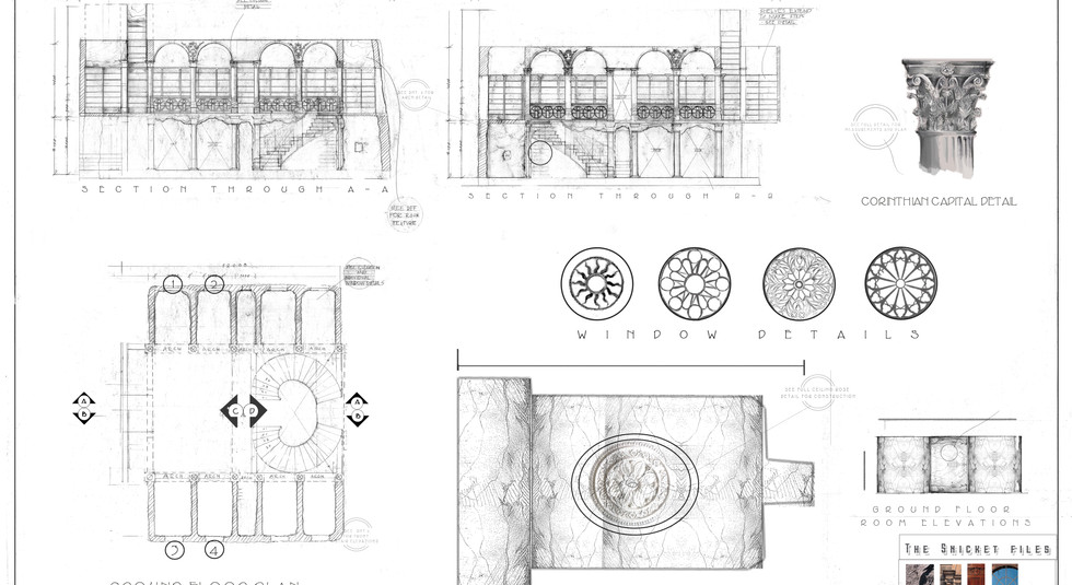Snicket Files - Technical Drawing - Sheet 1