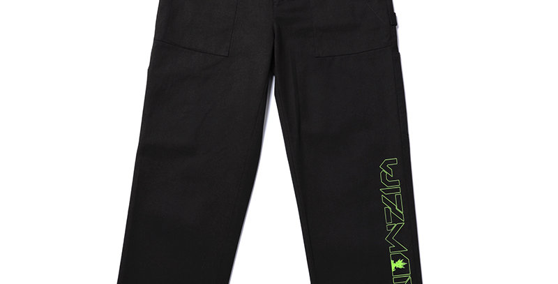 WEED FRIDAY PRINT WASHED CARGO PANTS
