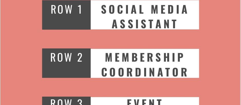 New Volunteer Positions!