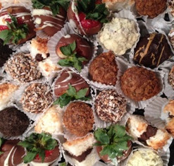 Assorted Truffles and Chocolate-covered Strawberries