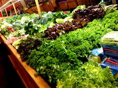 Greens lettuces