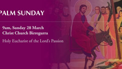Palm Sunday at Christ Church Birregurra